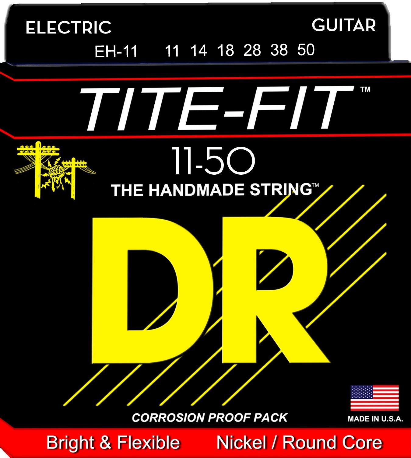 DR Strings EH11 Tite-Fit Electric Guitar Strings 11-50
