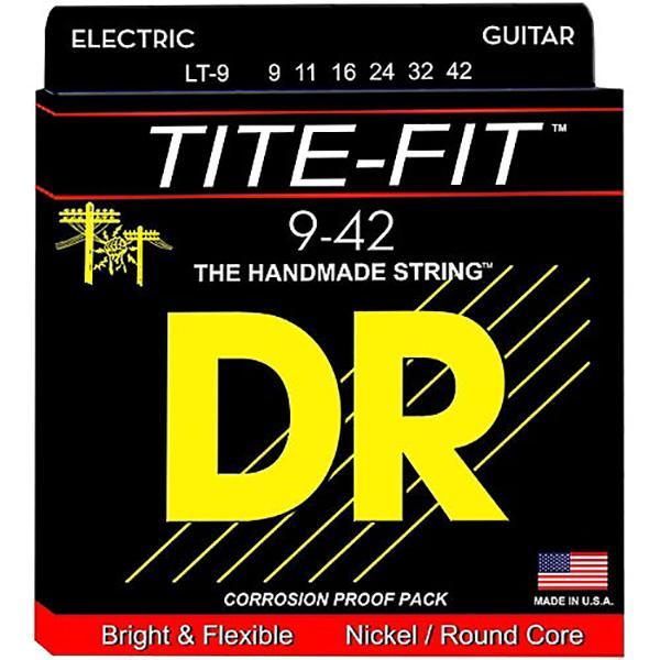 DR Strings LT9 Tite-Fit Electric Guitar Strings 9-42