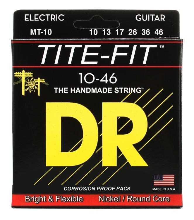 DR Strings MT-10 Tite-Fit Guitar Strings 10-46