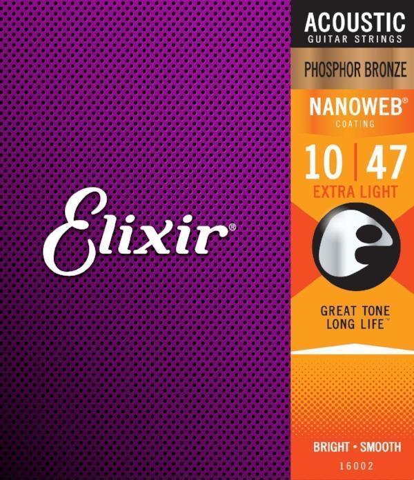 Elixir Nanoweb Extra Light 10-47 Guitar Strings