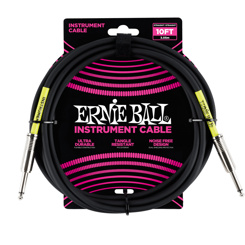 Ernie Ball 10 Instrument Cable Black
