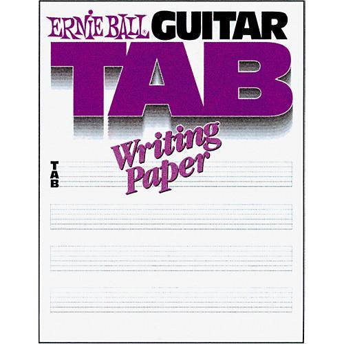 Ernie Ball Guitar Tab Writing Paper