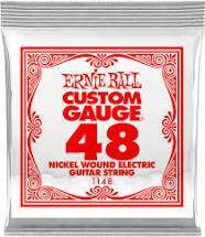 Ernie Ball Nickel Wound Electric Guitar String .048 Gauge 6 Pack