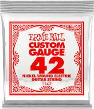 Ernie Ball Nickel Wound Guitar String .042 Gauge 6 Pack