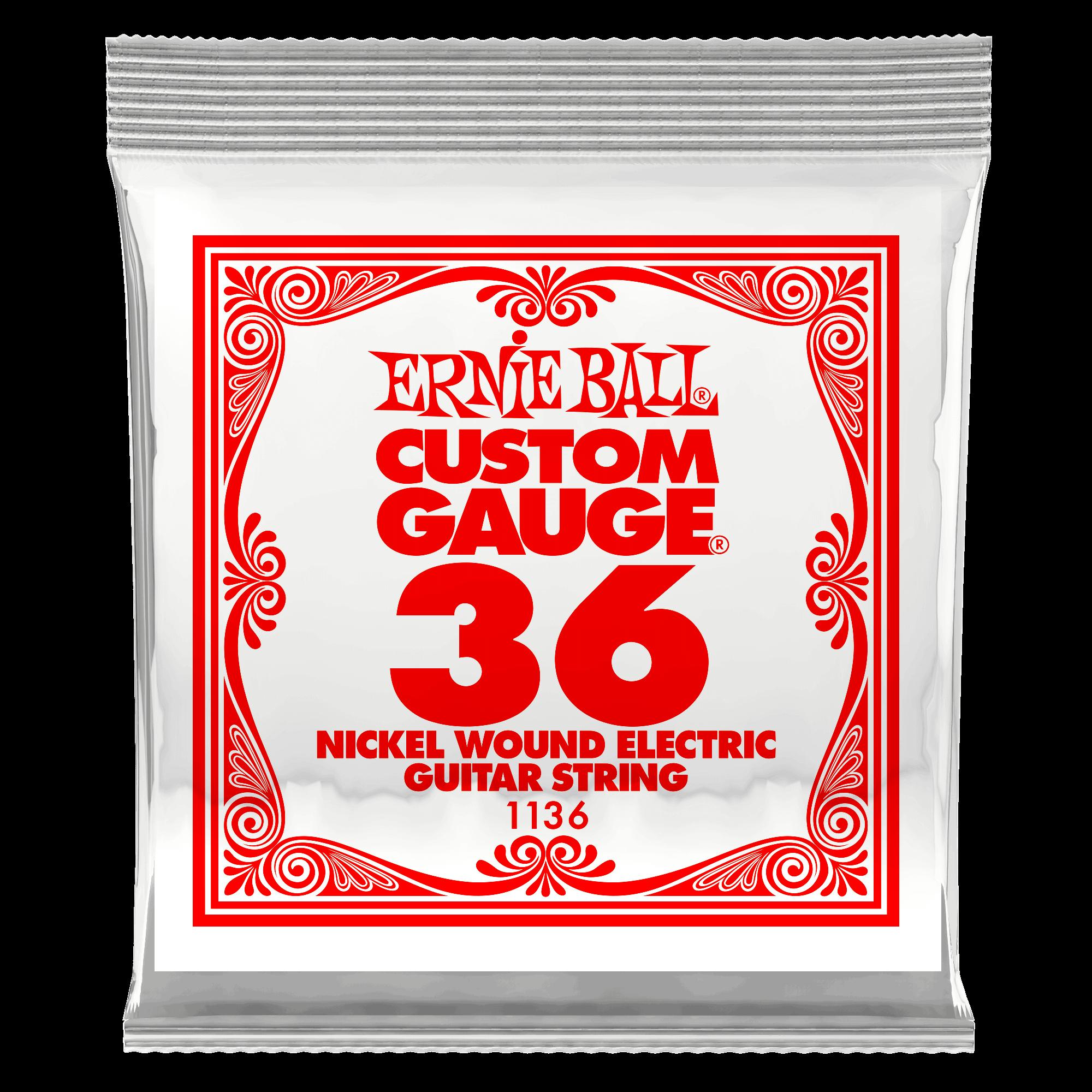 Ernie Ball P01136 .036 Gauge Nickel Wound Single String 6 Pack