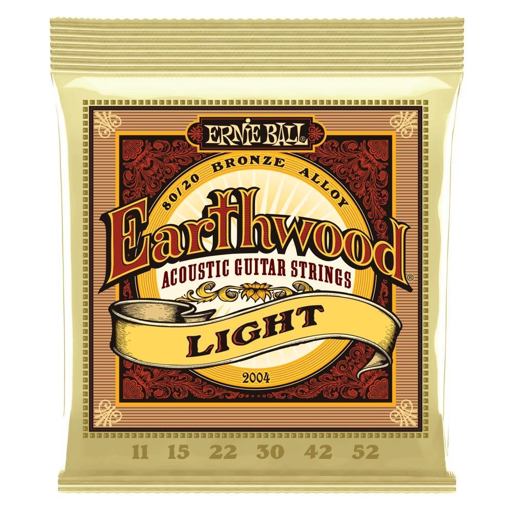 Ernie Ball P02004 Earthwood 80/20 Bronze Light 11-52 Acoustic Guitar String Set