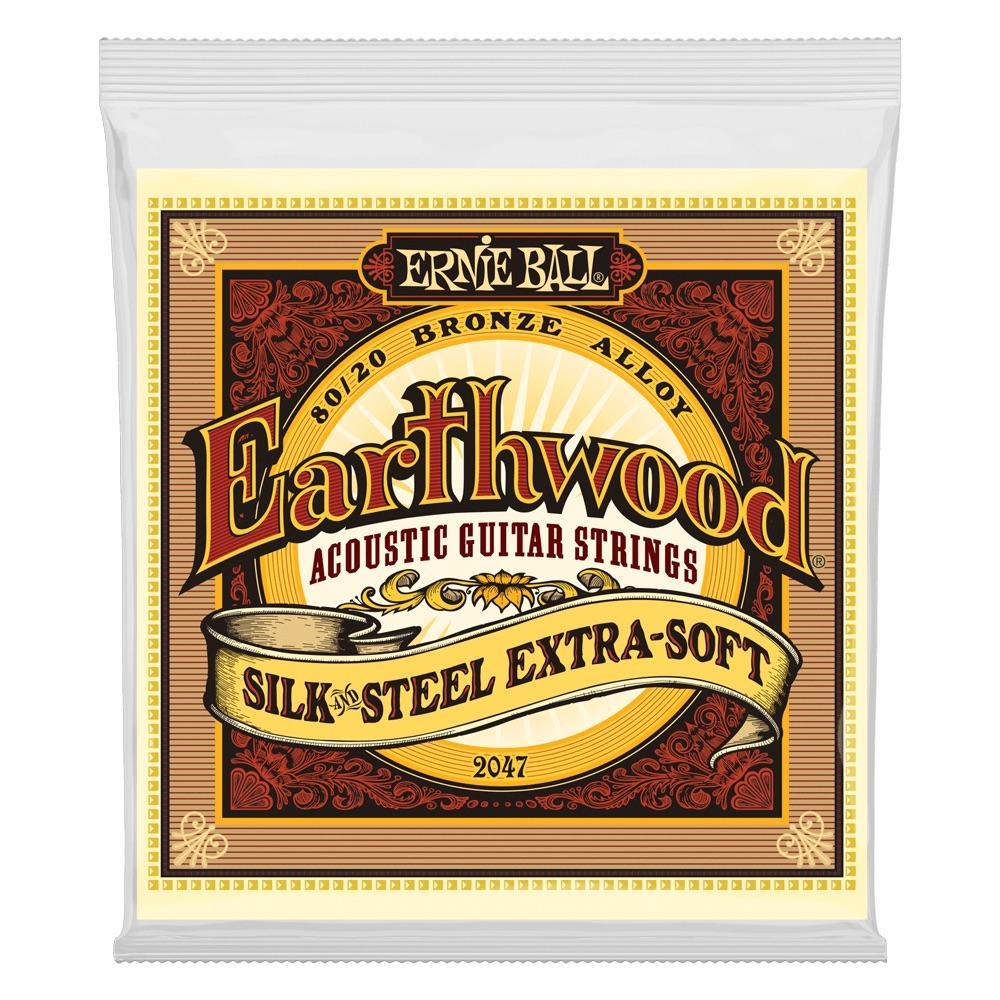 Ernie Ball P02047 Earthwood Silk & Steel Soft 11-52 Acoustic Guitar String Set