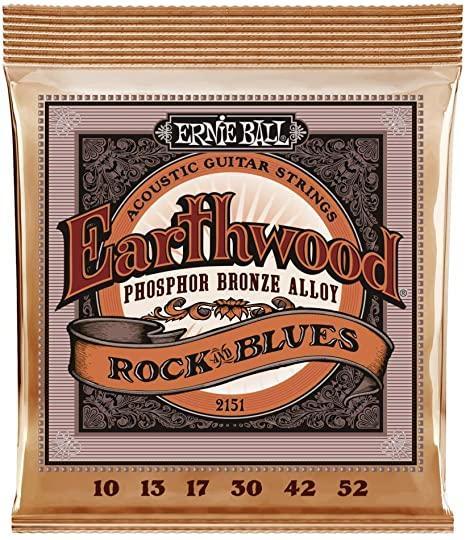 Ernie Ball P02151 Phosphor Bronze Rock & Blues 10-52 Plain 3rd