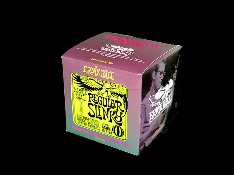 Ernie Ball P02221 Regular Slinky Electric Guitar Strings 10-46 (Box of 12)