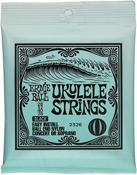 Ernie Ball P02326 Black Ball End Nylon Ukulele Strings