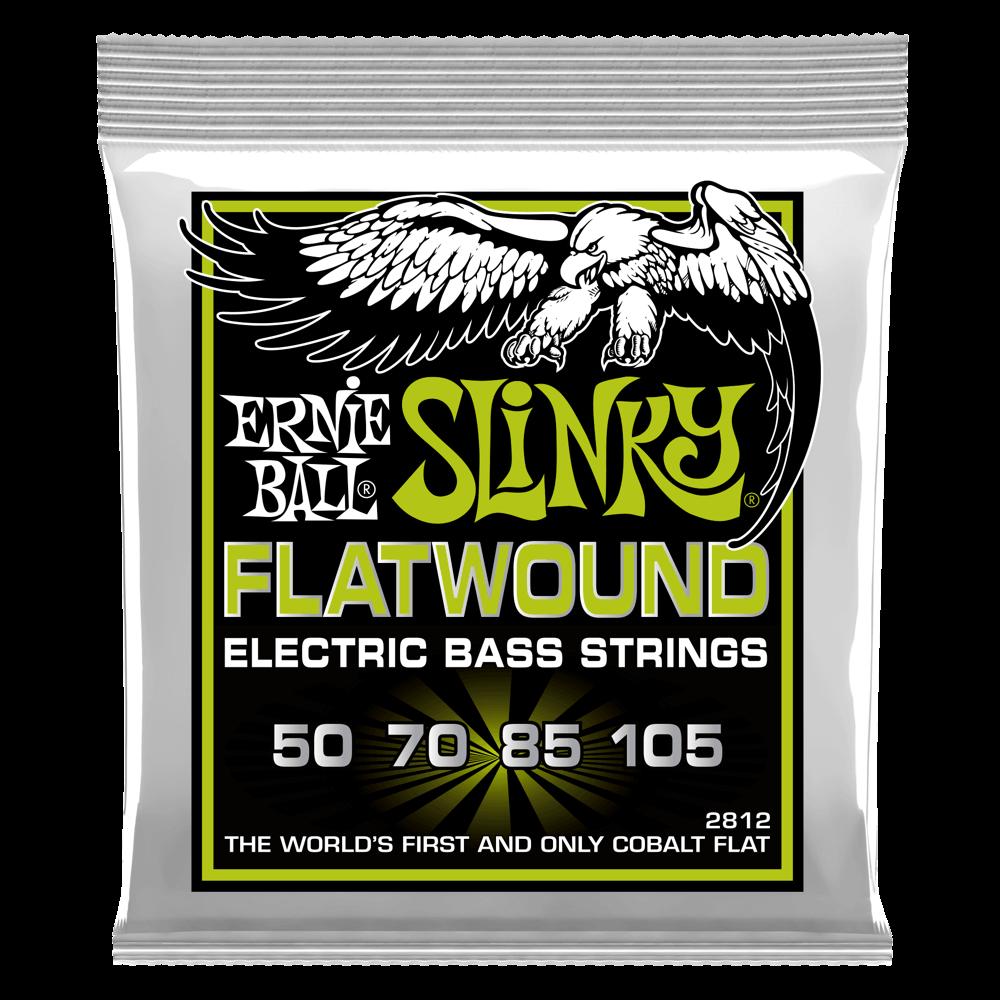 Ernie Ball P02812 Regular Slinky Flatwound Bass Strings 50-105