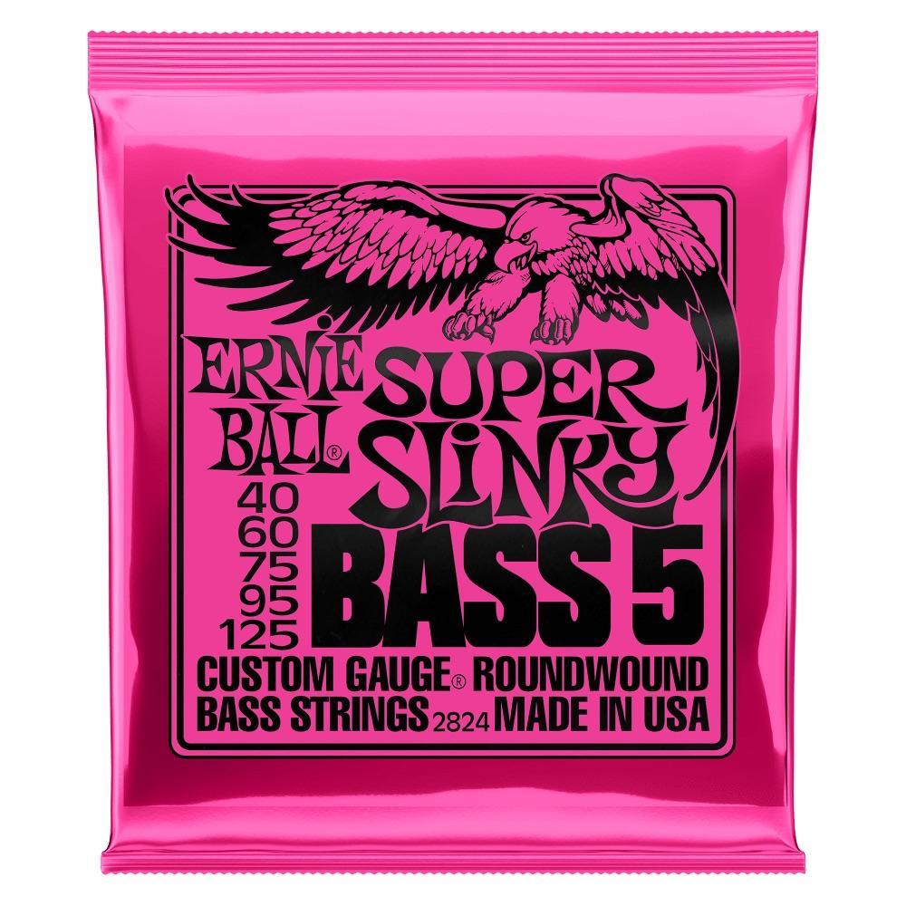 Ernie Ball P02824 Super Slinky 40-125 5-String Bass Set