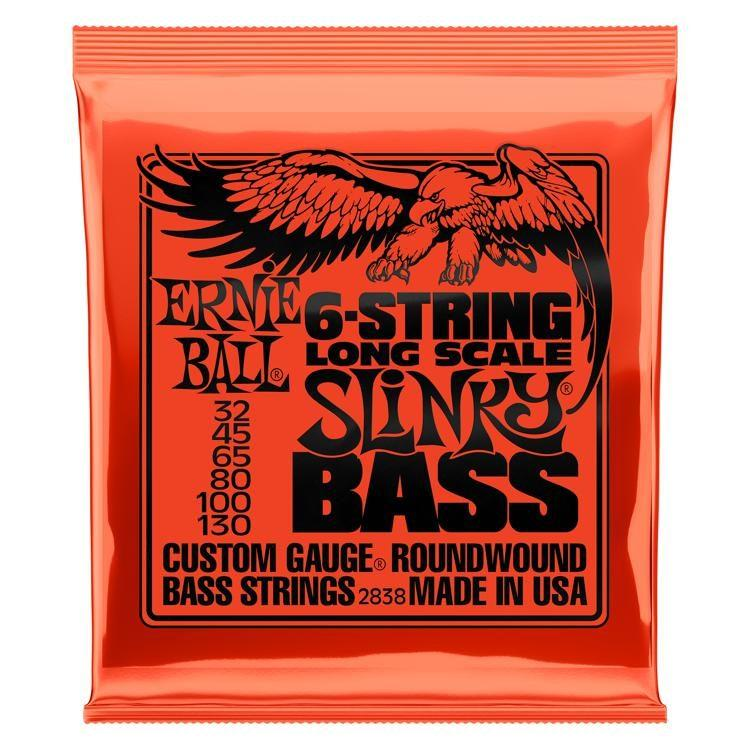 Ernie Ball P02838 Slinky Long Scale 6-String Electric Bass Strings 32-130