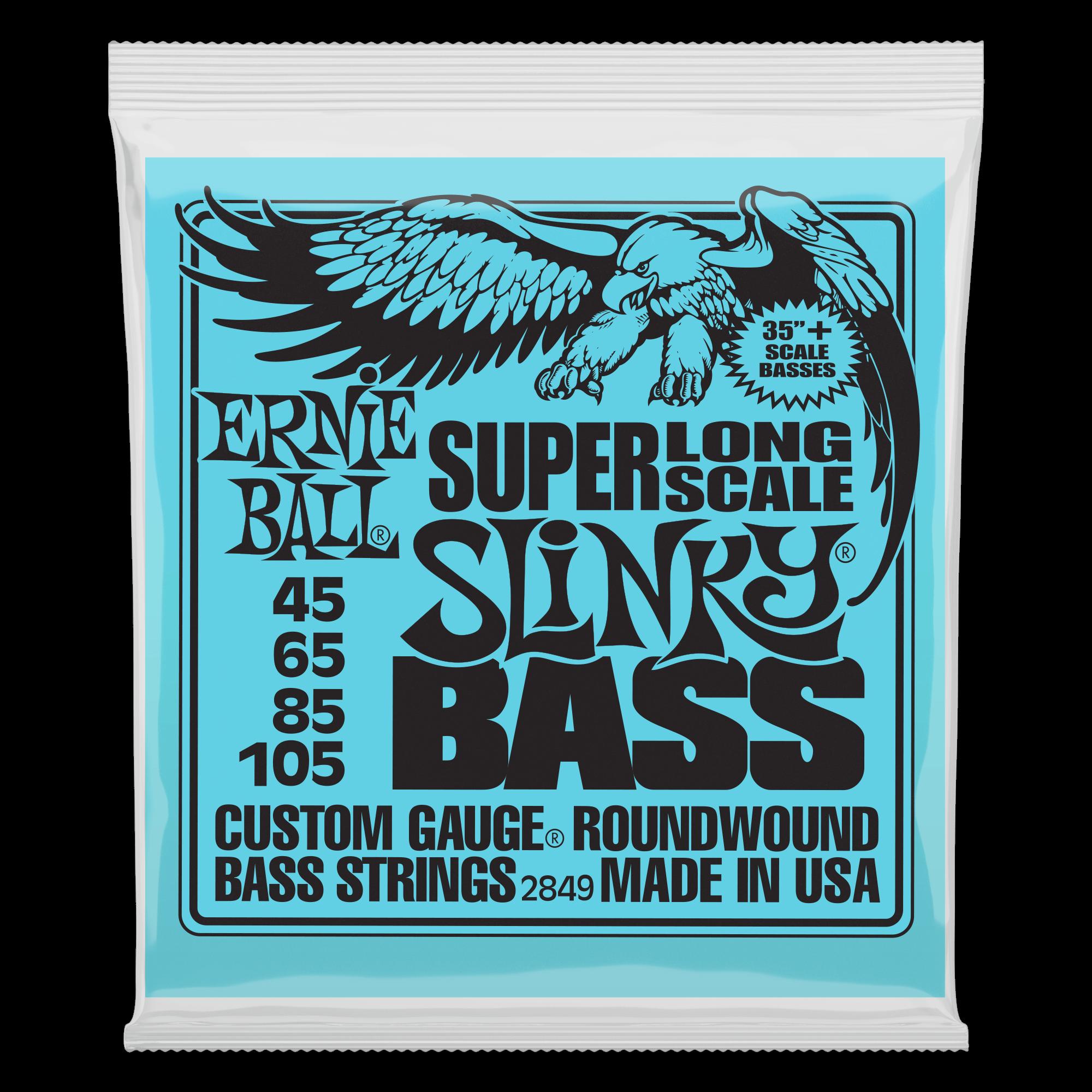 Ernie Ball P02841 Super Long Scale Slinky Electric Bass Strings - 45-105 Gauge