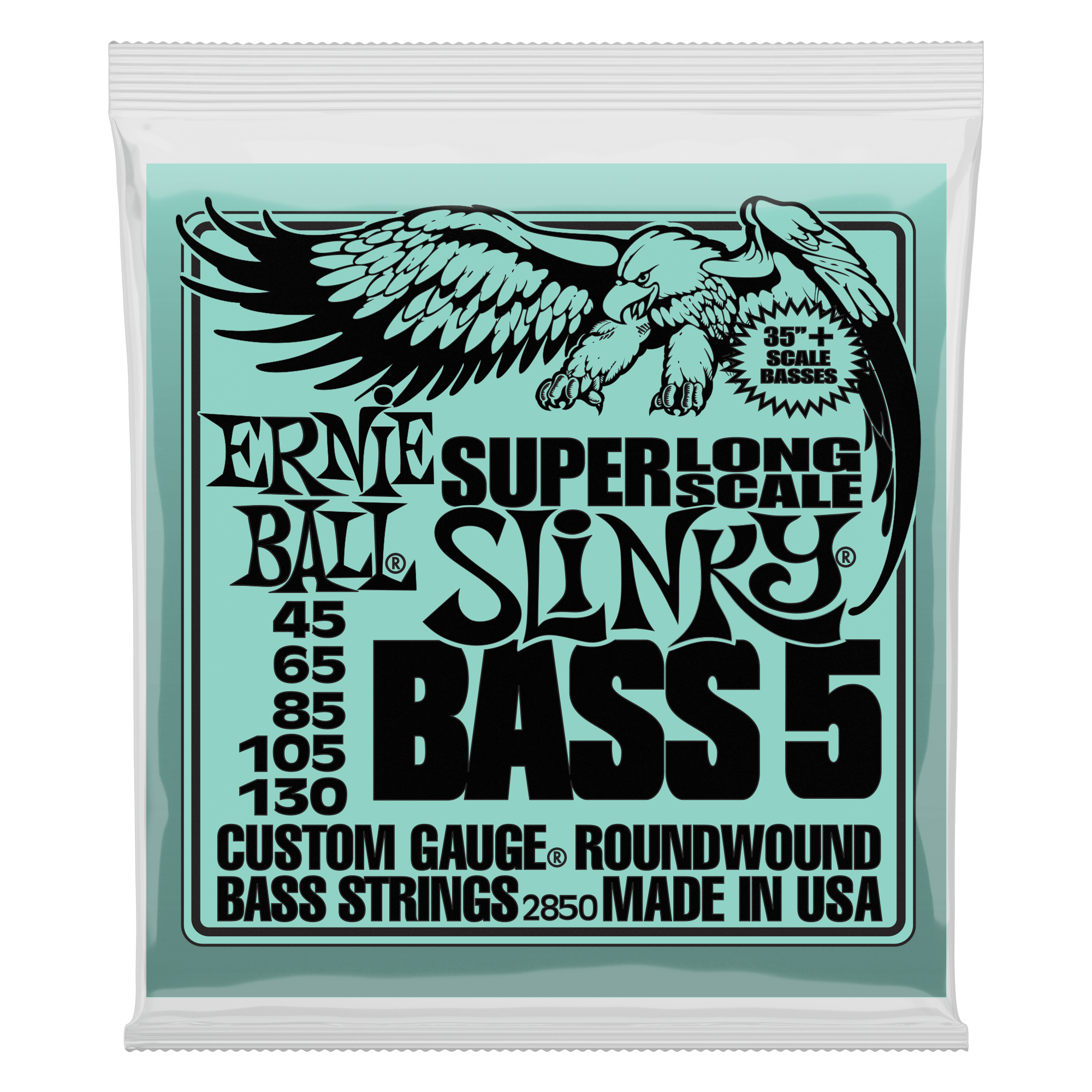 Ernie Ball P02850 Bass 5 Slinky Super Long Scale Electric Bass Strings