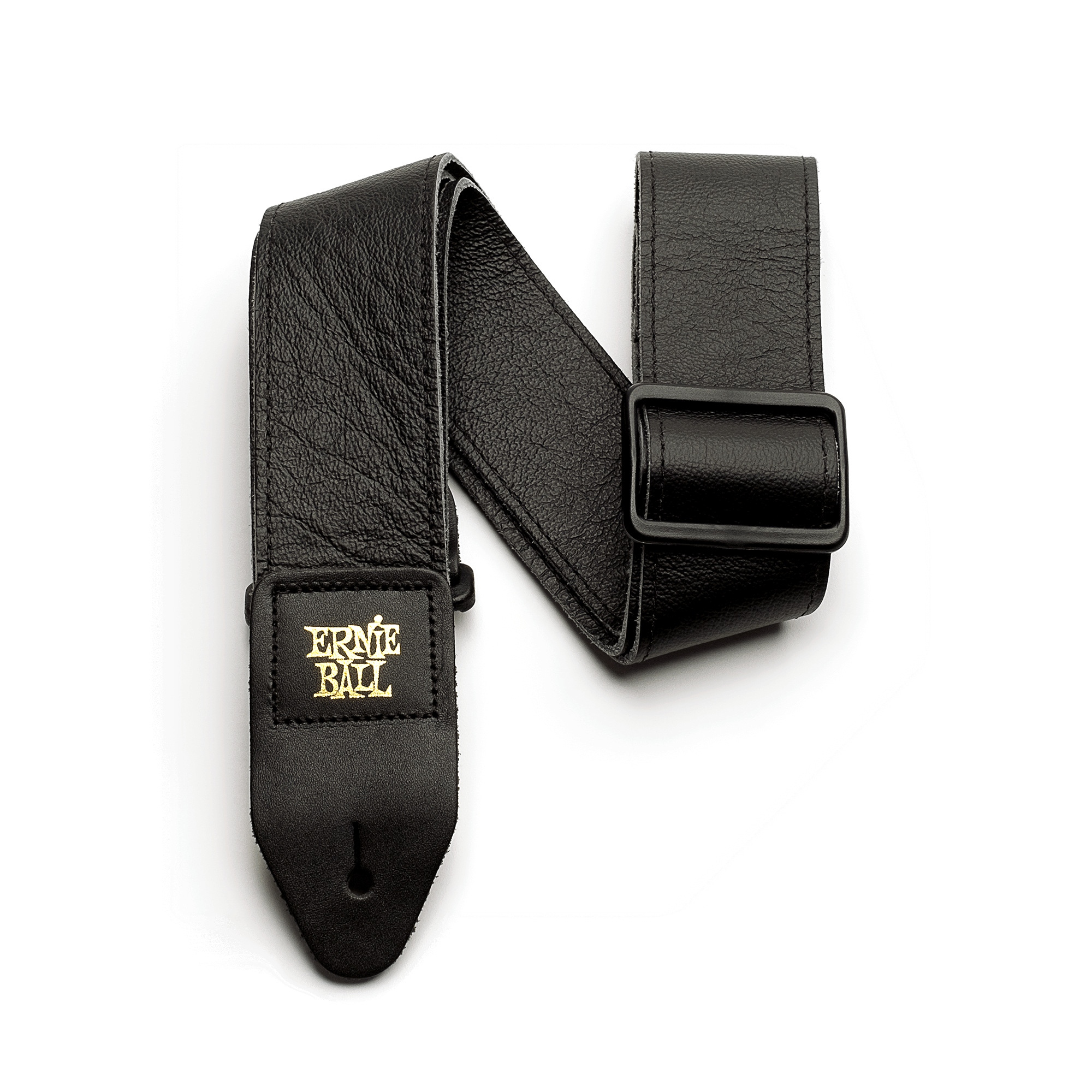 Ernie Ball P04134 Tri-Glide Leather Strap Black