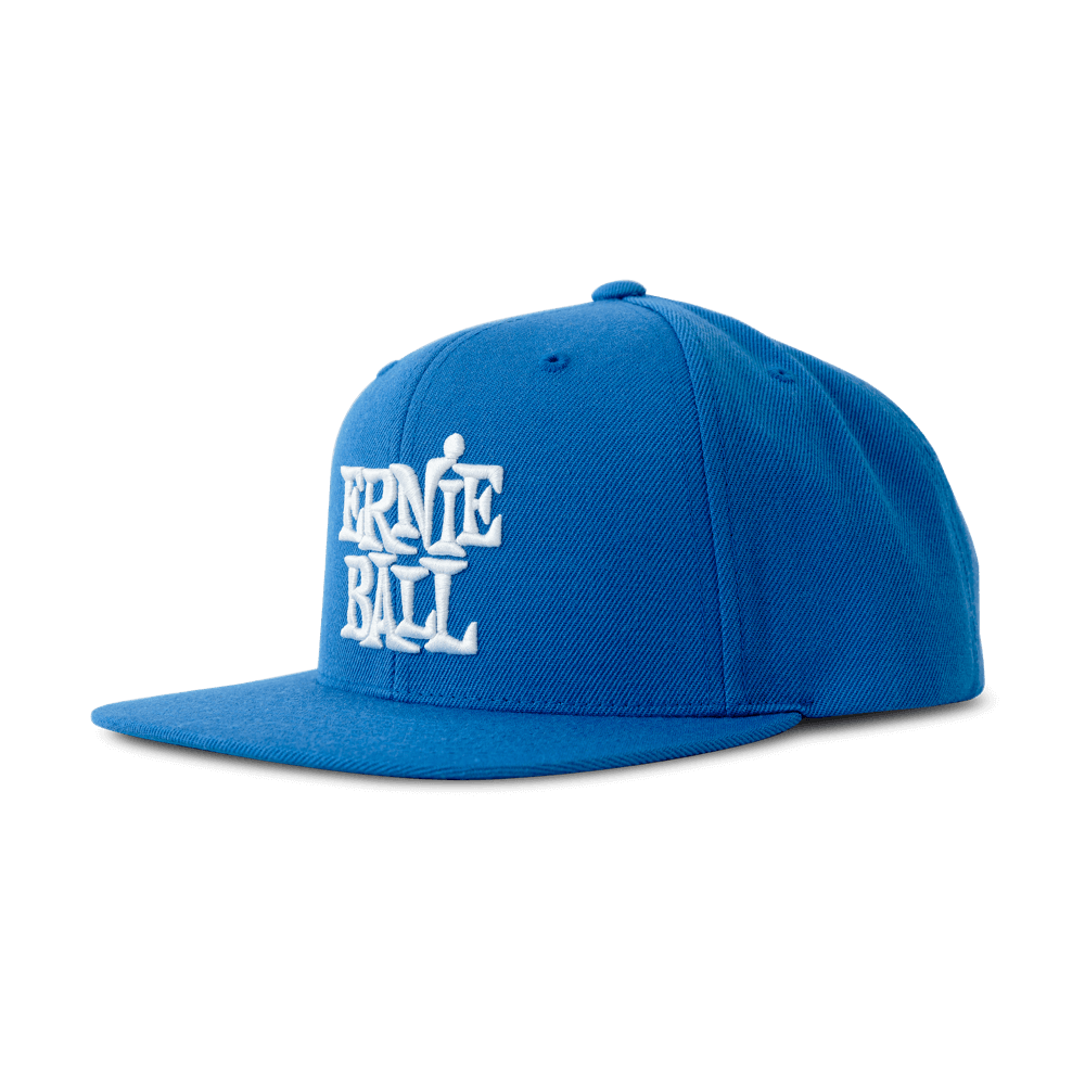Ernie Ball P04156 Blue with White Stacked Logo Hat
