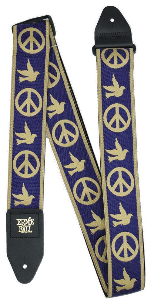 Ernie Ball P04699 Navy Blue and Beige Peace Love Dove Jacquard Guitar Strap