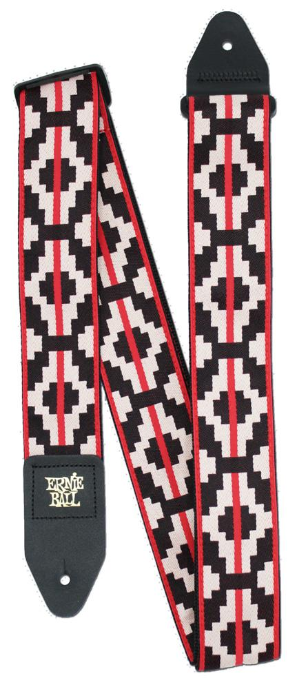Ernie Ball P05322 Ristra Red Jacquard Guitar Strap