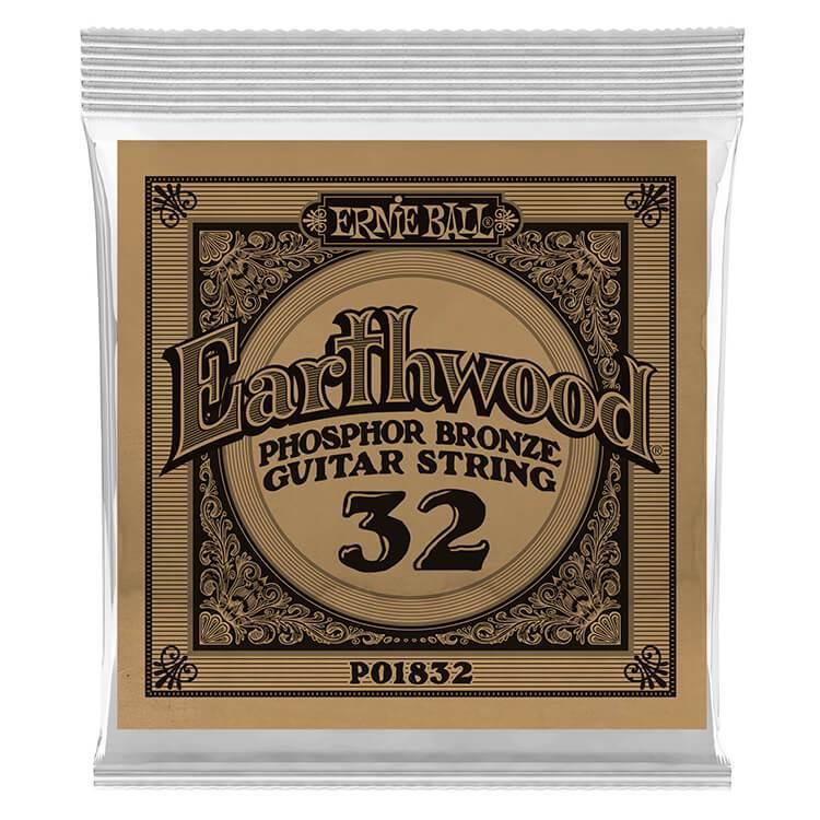 Ernie Ball Phosphor Bronze Acoustic String .032 Gauge 6 Pack