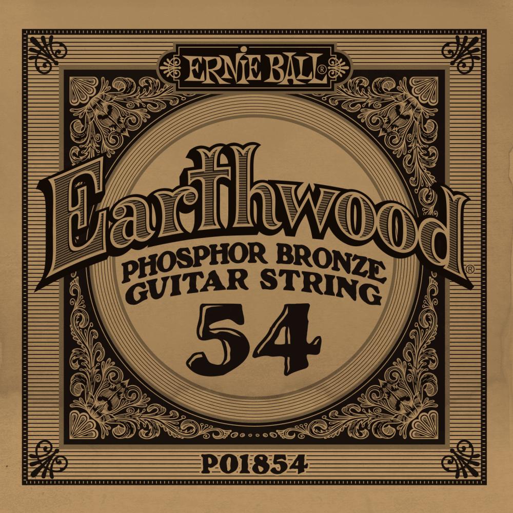 Ernie Ball Phosphor Bronze Acoustic String .054 Gauge 6 Pack