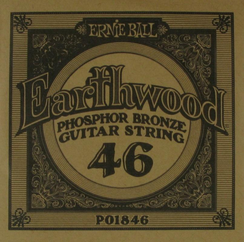 Ernie Ball Single String Phosphor Bronze .046 Pack of 6