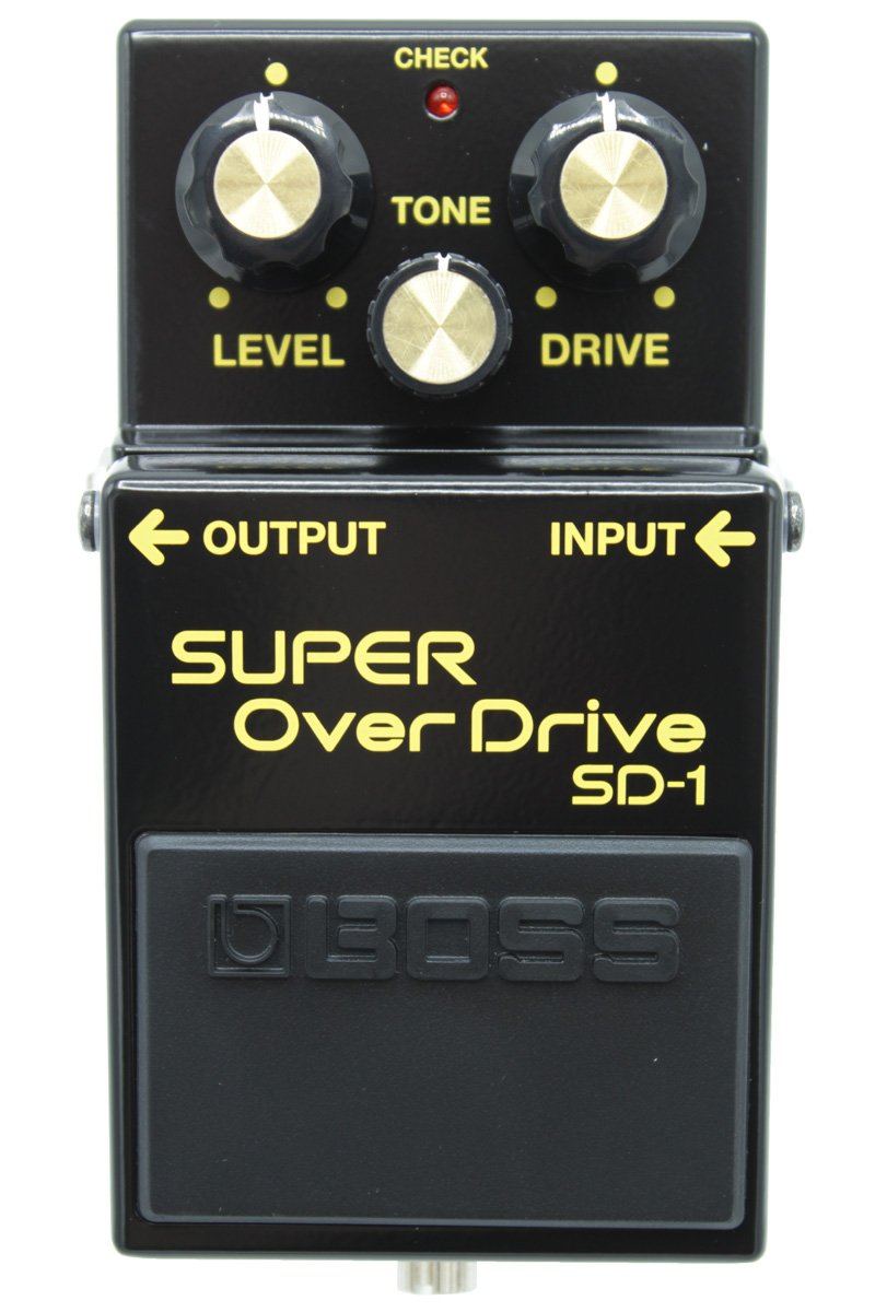 Boss SD-1 Super Overdrive 40th Anniversary Edition Blackout Pedal