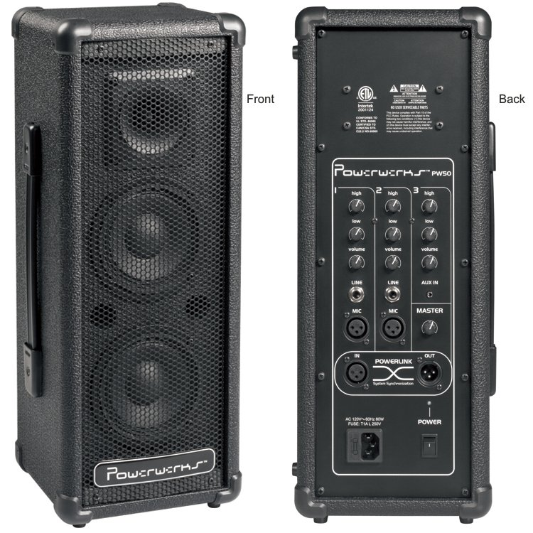 PowerWerks 50 Watt Self-Contained Personal P.A. System with Powerlink