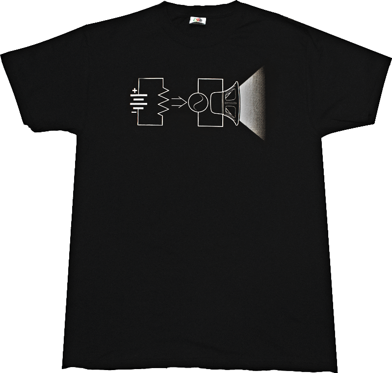 T-Shirt - Black Abstract Equation for Power - XLG