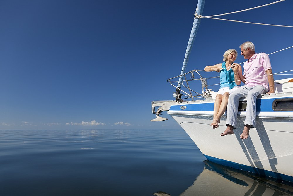 older couple on boat