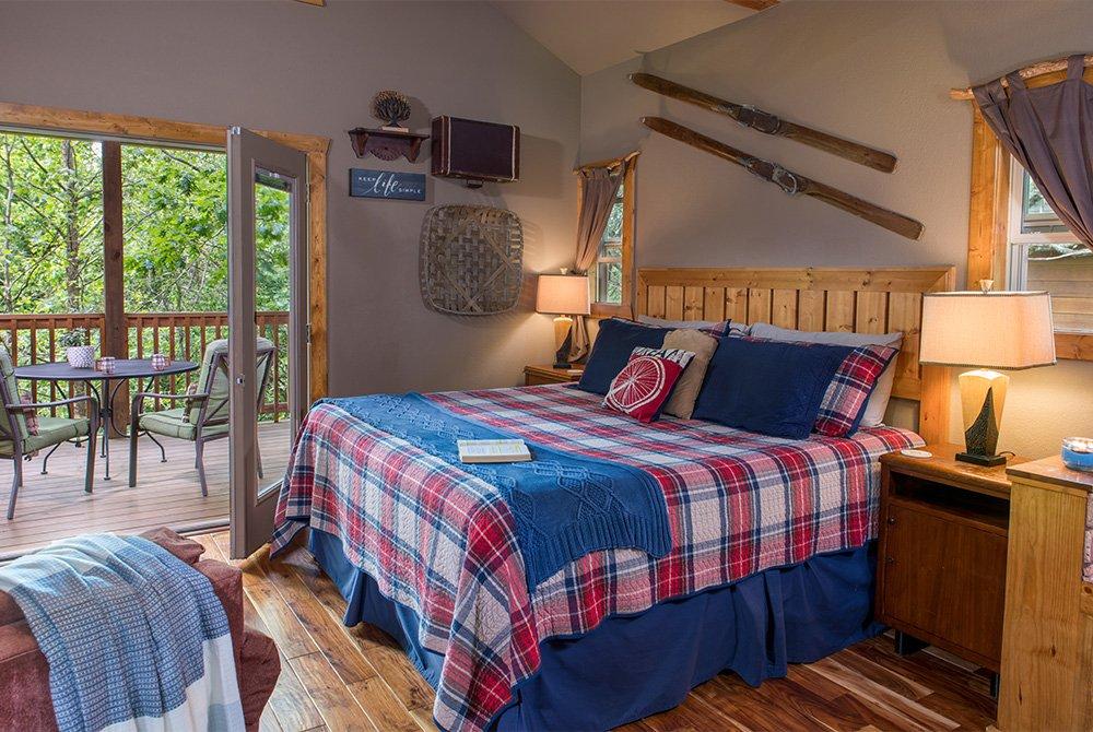 rocky's retreat cabin bed