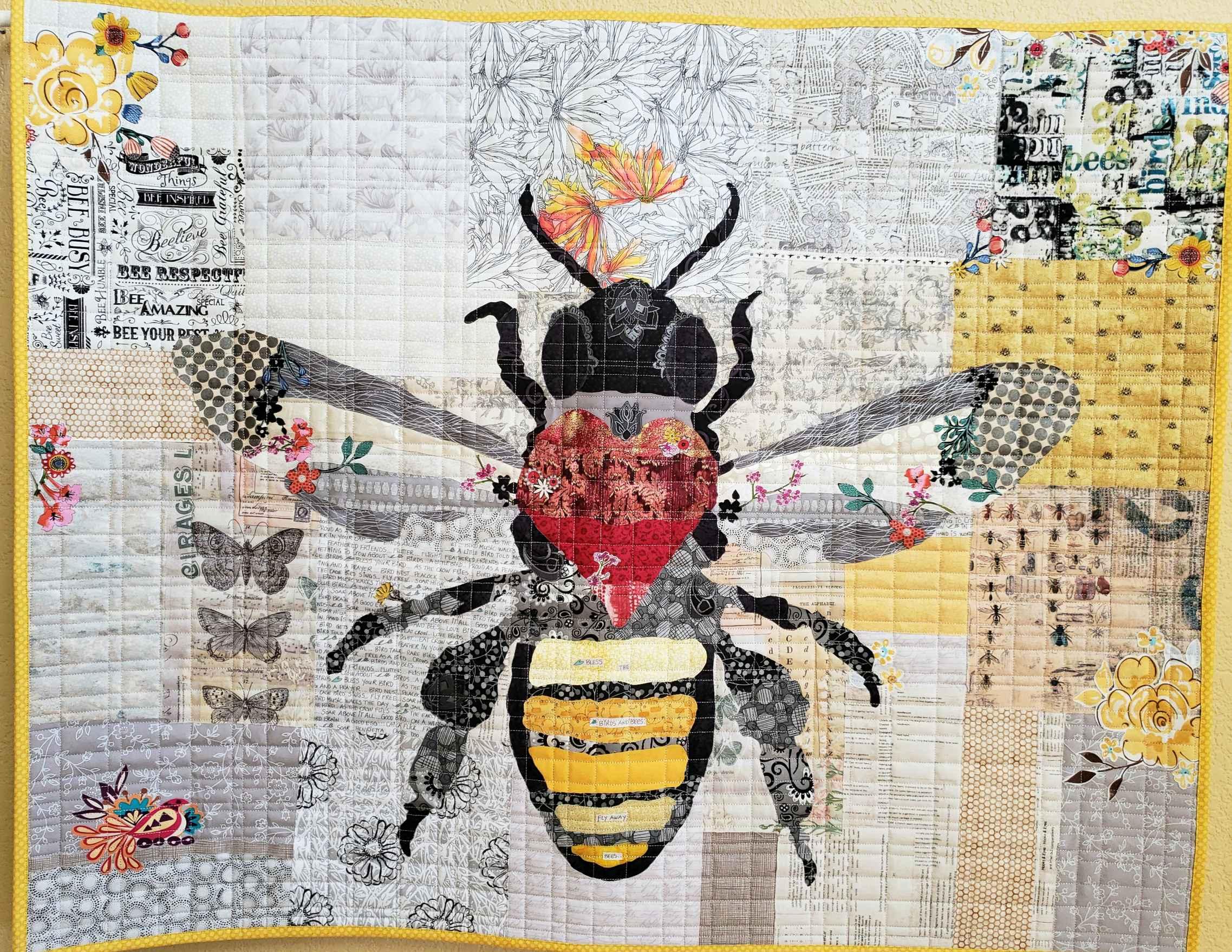 Honey Bee Fabric kit