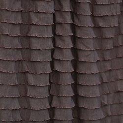 Mocha Cascading 1'' Ruffle