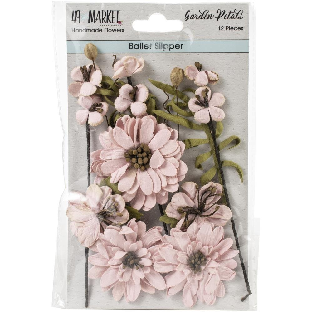 49 And Market Garden Petals 12/Pkg-Ballet Slipper