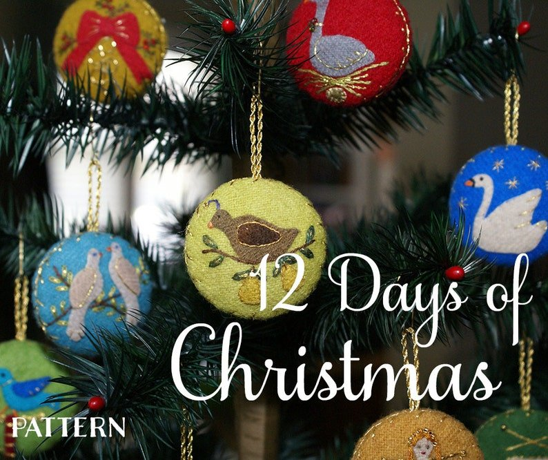 12 Days Of Christmas Wool Ornaments