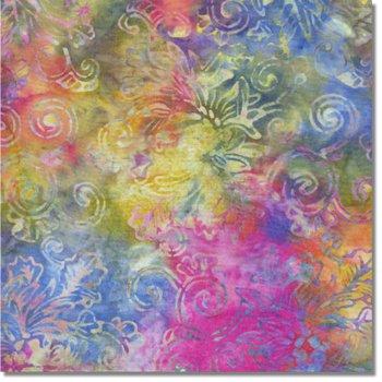 SEWBATIK 44 Rayon - Floral Outline - Rainbow