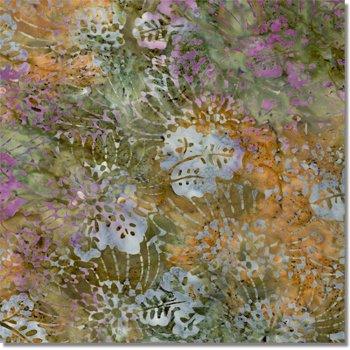 SEWBATIK 44 Rayon - Packed Daisy - Pecan Lavender