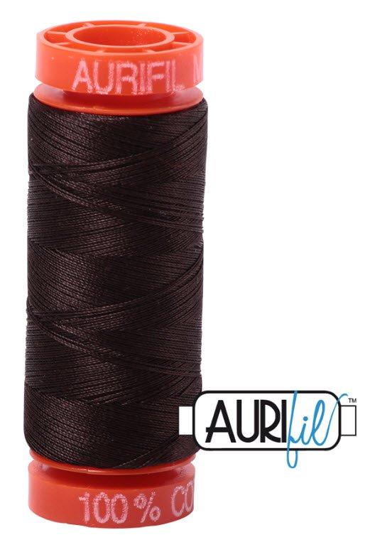 Aurifil- 1130 (Very Dark Bark) x 220 yds