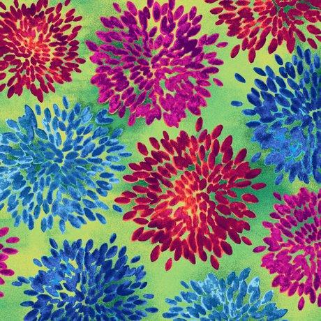 QT- Mirage- Floral- Green