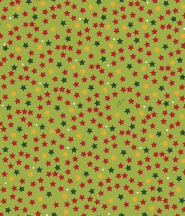 QT- Meowy Christmas (Stars) Lime