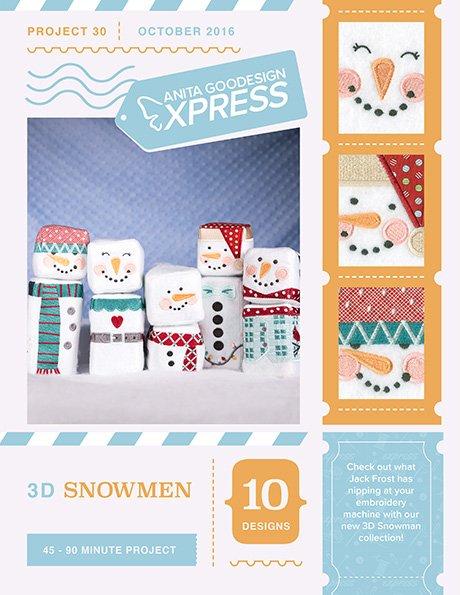 ANITA GOODESIGN- 3D Snowmen Express