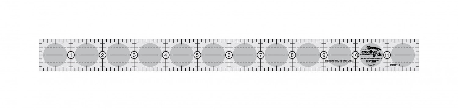CREATIVE GRIDS Quilt Ruler 1in x 12in
