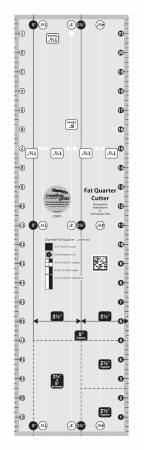 CREATIVE GRIDS Fat Quarter Cutter Ruler 6in x 22in