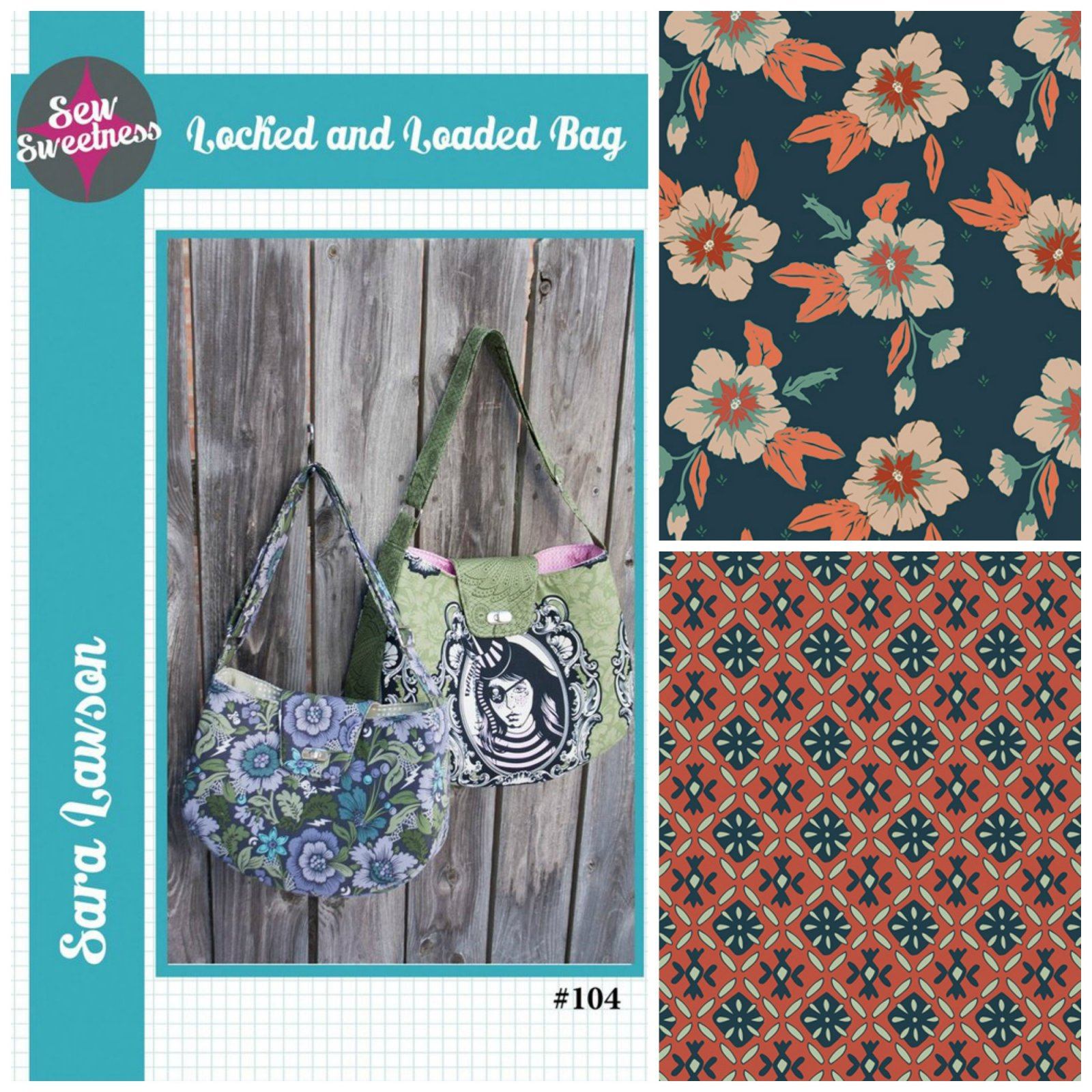 Sew Sweetness- Locked and Loaded Bag (Kit featuring Autumn Vibes from AGF)