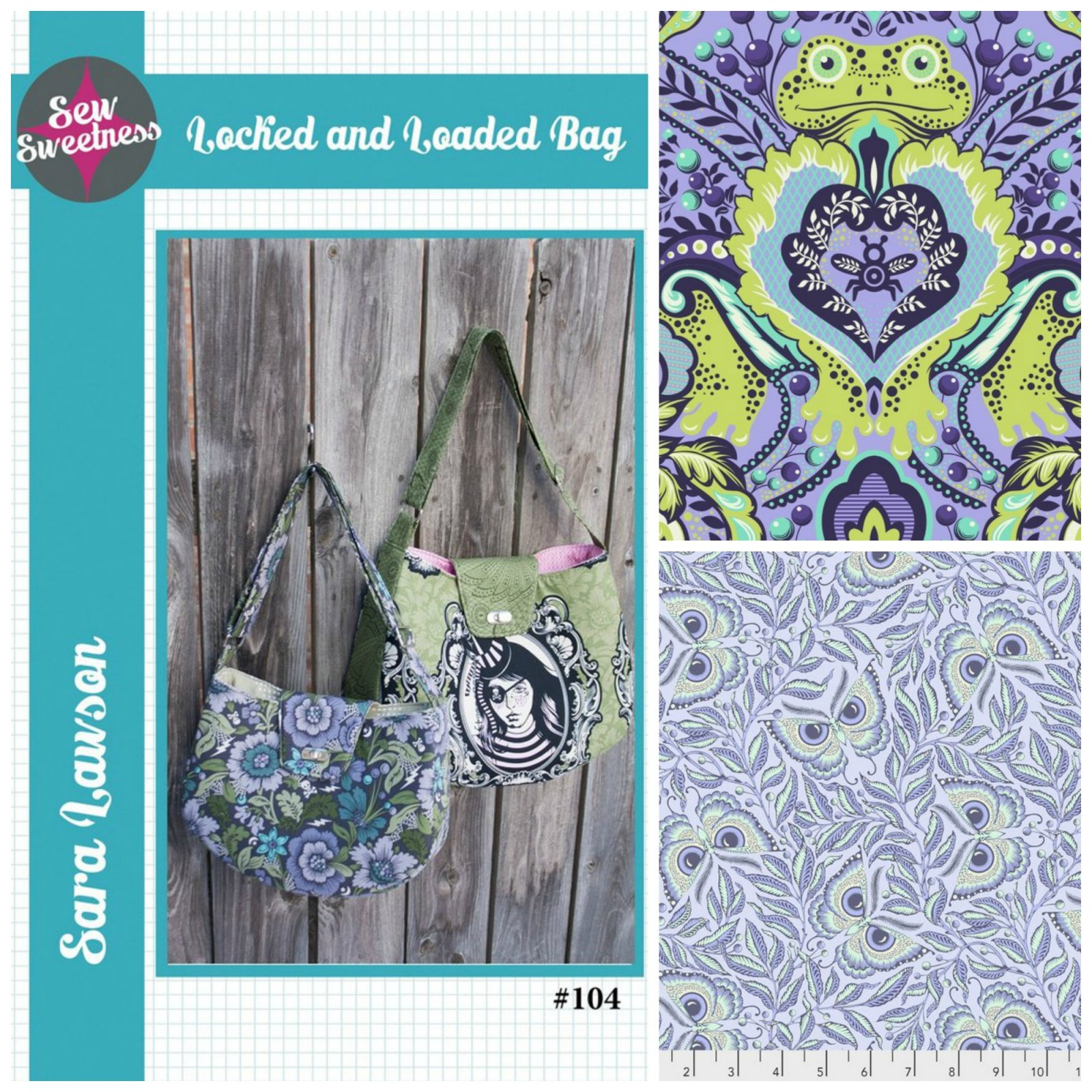 Sew Sweetness- Locked and Loaded Bag (Kit featuring Tula Pink All Stars and Pinkerville))