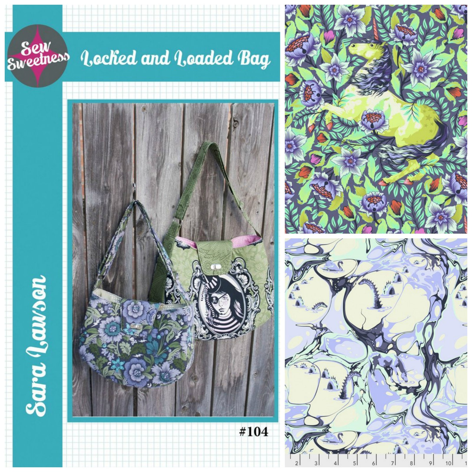 Sew Sweetness- Locked and Loaded Bag (Kit featuring Pinkerville in Daydream by Tula Pink)
