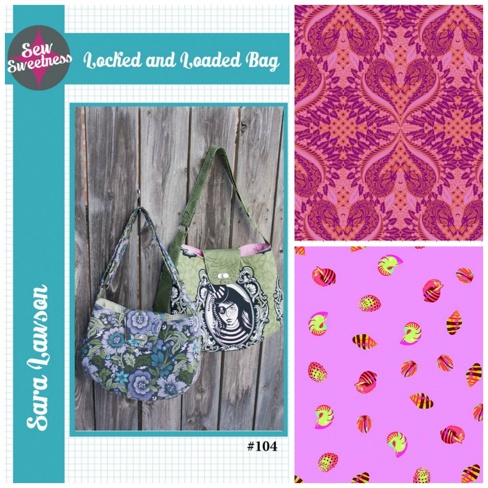 Sew Sweetness- Locked and Loaded Bag (Kit featuring Pinkerville & Zuma from Tula Pink)
