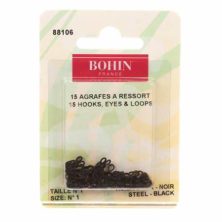 Bohn Hooks Eyes & Loops Black Size 1  # 88106