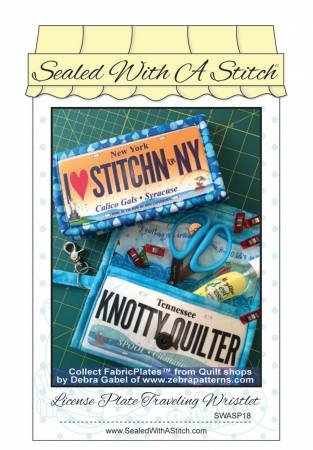 SEALED WITH A STITCH License Plate Traveling Wristlet