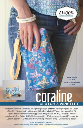 SWOON SEWING PATTERNS Coraline Clutch - 635797628955